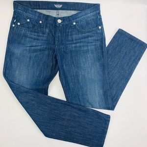 Rock & Republic Womens Jeans 31 Blue Berlin Straig